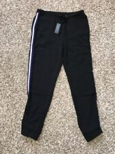 NWT Romeo + Juliet Couture Black Polyester Pants  Sz. Large Elastic Cuff $138.