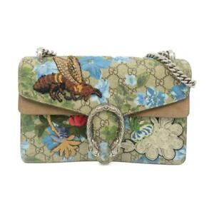 Gucci GG Supreme Blooms Embroidered Bee Dionysus Small GG Shoulder Bag