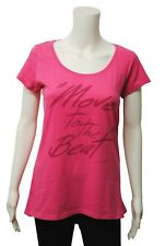 Womens Pineapple Scoop Neck T-Shirt Top Beat Print Cerise Pink Size 8 to 18 T130