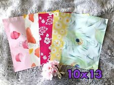 100 Designer Printed Poly Mailers 10X13 Shipping Envelopes Bags Mix Peacock