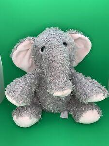 "Melissa & Doug Sterling Elephant Sanitized Plush Stuffed Animal Gray 12"" Tall"
