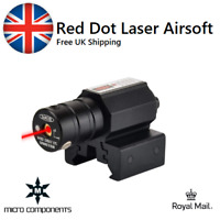 Red Dot Laser Sight Airsoft Pistol Air Gun BB Rifle Metal Rail Mount