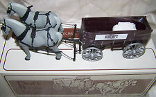 """Draft Horses with Wagon """"Hershey's Anniversary"""" 1/28 Scale 1st First Gear c.1994"""