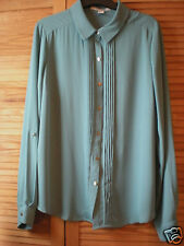 FOREVER 21 F21 Green Blouse Shirt Size Large