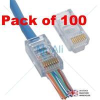 Platinum Tools EZ RJ45 Crimp Lan Network Connectors for Cat 6 UTP - Pack of 100