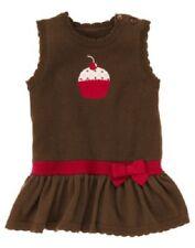 GYMBOREE GIRLS 12-18 MO SWEET TREATS BROWN DROP WAIST CUPCAKEAPPL JUMPER DRESS