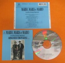 CD SOUNDTRACK MARIO, MARIA E MARIO Armando Travaioli 1993 ITALY RCA no mc (OST6)