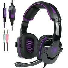 Sades SA930 Stereo Surround Pro Gaming Headset Headphones w/ Mic For Phone PC