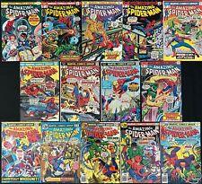 Amazing Spider-Man #131-159 range (Marvel 1974) Avg. 8.0 Lot of 14 Bronze Age