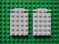 Lego 2 x placa trampilla 92099 blanco 4x6 langer pin 4431 4209 4645