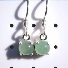 Drop Earrings 1.75 CTW Natural Aventurine Gemstone Cab 925 Sterling Silver 6mm