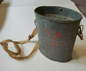 Vintage Old Pal Oval Wading Minnow bucket With Strap