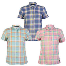 Hip Length Cotton Collared Checked Tops & Shirts for Women
