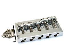 Chrome Hi-Mass Heavy Duty 5-String Bass Guitar Bridge 72mm Spacing BB-3440-010