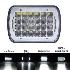 "CREE 5x7"" 7x6'' Chrome LED Headlight Hi-Lo Beam Halo DRL For Jeep YJ Cherokee XJ"