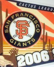 MLB San Francisco Giants Spring Cactus League Baseball Pennant 2006
