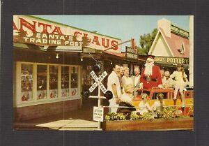 POSTCARD:  SANTA CLAUS, CALIFORNIA:  SANTA'S TRADING POST & MINIATURE RAILROAD