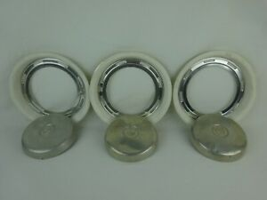 BMW Isetta BMW 600 Beauty Trim Rings & Hubcaps ~ (6 Pieces) Need Restoration ~