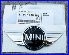 Genuine MINI Cooper r50 r52 r53 Rear Hatch Emblem Wing Badge w/ Adhesive Backing