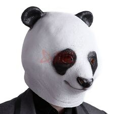 Creepy Panda Head Halloween Mask Latex Rubber Cosplay Costume Prop Party Toys