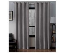 Exclusive Home Curtains Loha Linen Grommet Top Curtain Panel Pair, 54x63, Dove G