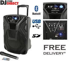 QTX Busker 10 Portable PA Karaoke Speaker + WIRELESS MIC USB SD FM & BLUETOOTH
