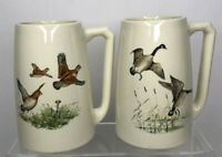 Vintage Hyalyn Pottery 641 Stein Mug Set Geese Hunting Hickory, NC Gift
