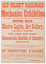 Remarkable Pre-Edison Electric Lights Exhibition Broadside in Boston in 1878