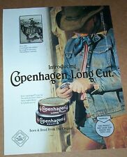 1997 print ad page - Copenhagen chewing Tobacco SEXY guy Cowboy hat chaps Advert