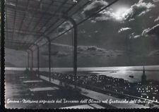 GENOVA - NOTTURNO DAL TERRAZZO DEL GRATTACIELO OROLOGIO V 1958
