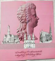 altes Werbeprospekt d.Mozartstädte Augsburg , Salzburg , Wien um 1960 (A3011)