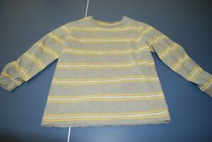 Boys Old Navy Gray Yellow Stripe Long Sleeve Shirt Size 6/7 Excellent Condition