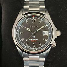 Seiko Prospex Black Alpinist Stainless Steel Automatic Men's Watch SPB117