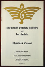Bournemouth Symphony Orchestra and Ron Goodwin, Christmas Concert Programme 1974