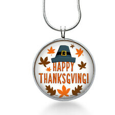 Happy Thanksgiving! Pendant Necklace, Holiday Pendant, Thanksgiving ,gifts