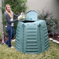 Exaco Thermo Star 1000 Recycled Plastic 267-gal. XXL Compost Bin, Green