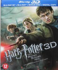 HARRY POTTER AND THE DEATHLY HALLOWS PART 2 -  3D   -  BLU-RAY  - 3D+2D+ BONUS