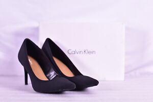 Women's Calvin Klein Gayle Stretch Pointed Toe Stiletto High Heels, Black
