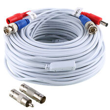 1pcs 100ft/30m CCTV Camera Power Cable Surveillance TVI System UK Stock