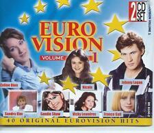 DOUBLE / 2 CD set EUROVISION volume 1 SANDRA KIM SANDIE SHAW FRANCE GALL/ abc14*
