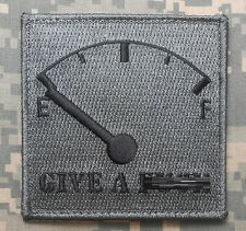 GIVE A F*** METER NO F's ARMY MORALE MILITARY USA ACU DARK VELCRO® BRAND PATCH