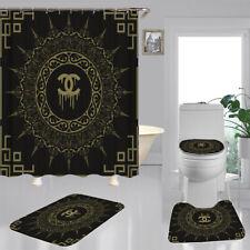 "New 4PCS Shower Curtain Gucci Christmas Bathroom Carpet Set Best Gift 70 ""x 70"""