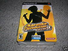 Playstation 2 PS2 KARAOKE REVOLUTION 3 Game W/ Microphone New