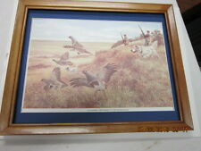 grouse huting picture on the plains framed