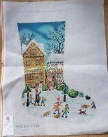 "Princely Handpainted Canvas Christmas Stocking Needlepoint ""Kit"" ST2103, XL size"