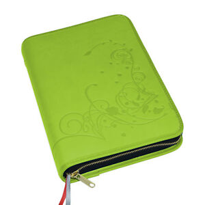 Großdruck Gotteslob Hülle Gotteslobhülle Kunst Leder grün Gebetbuch Buchhülle