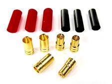 3 Paar 6 Stück 6mm 6,0mm Goldstecker Stecker Buchse Lipo Akku + Schrumpfschlauch