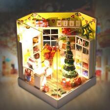DIY House Miniature Kit Dollhouse Room w/Furniture LED for Christmas Gift W4E4