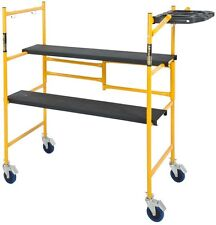 Mini Rolling Scaffold 500 lb. Load Capacity with Tool Shelf Scaffolding Deck New