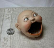 Schafer Vater German Bisque Face Ashtray Match Holder c1915 Googly Germany Doll
